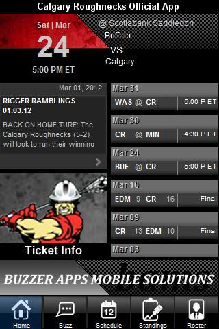 Calgary Roughnecks Official Ap