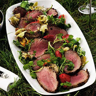 Mustard Crusted Fillet Of Beef With Deli Salad