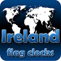 Ireland flag clocks icon