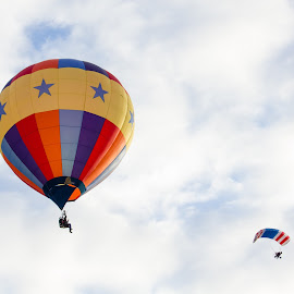 Sky Travelers by Blaine Linton - Transportation Other ( hot air balloon, sky, colorful, hot, air, balloon )