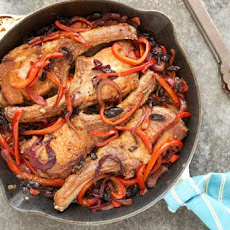Pork Chops with Peppers, Vinegar and Black Olives Recipe