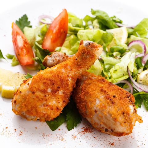 Breaded and Baked chicken Drumsticks