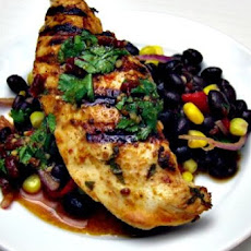 Grilled Spicy Lime Chicken With Black Bean and Avocado Salad