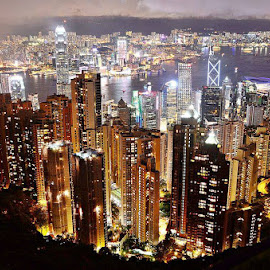 Hongkong the peak by Darlis Herumurti - City,  Street & Park  Skylines