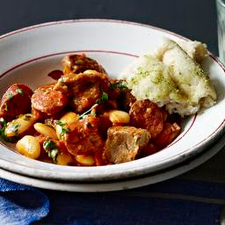 Pork, Chorizo And Butter Bean Stew