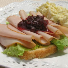 Turkey and Lingonberry Open Faced Sandwiches