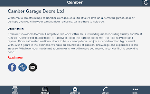 Camber Garage Doors Ltd - screenshot