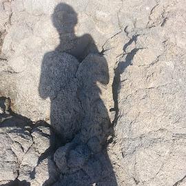 Shadow by Melissa Keller - Artistic Objects Other Objects ( figure, female, shadow, pahoehoe, rock )