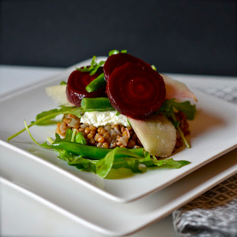 Warm Lentil Salad with Roasted Beets and Goat Cheese