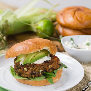 Grateful Dead Black Bean Burger with Cilantro Lime Mayonnaise