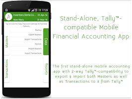 Screenshot of mAccounts Mobile Accounting