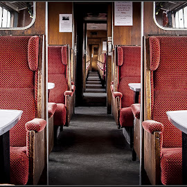 passage by Sandy Crowe - Transportation Trains ( passenger, passage, carriage, train, seats,  )