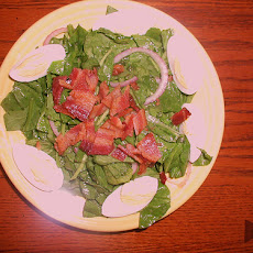 Spinach Salad With Bacon and Cashews