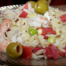 Shrimp With Orzo, Olives and Feta