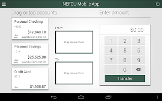 Screenshot of NEFCU Mobile App