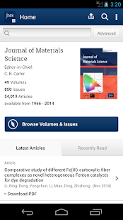 Journal of Material Science - screenshot