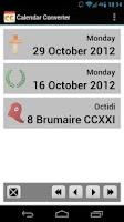 Screenshot of Calendar Converter