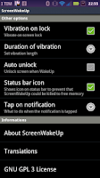 Screenshot of ScreenWakeUp