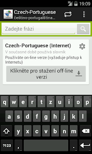 Czech-Portuguese Dictionary - screenshot
