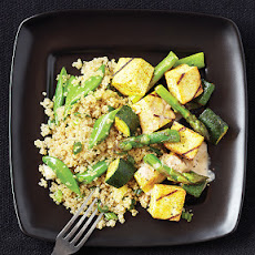 Veggie Satay with Cucumber Quinoa Salad