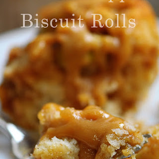 Caramel Apple Biscuit Rolls