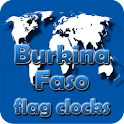 Burkina Faso flag clocks icon