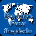 Burkina Faso flag clocks icon