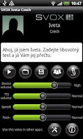Screenshot of SVOX Czech/Český Iveta Trial