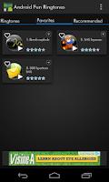 Screenshot of Android Fun Ringtones