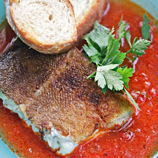 Spanish-Style Cod in Chorizo-Tomato Broth
