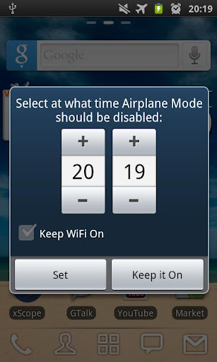 Airplane Mode: TIMED