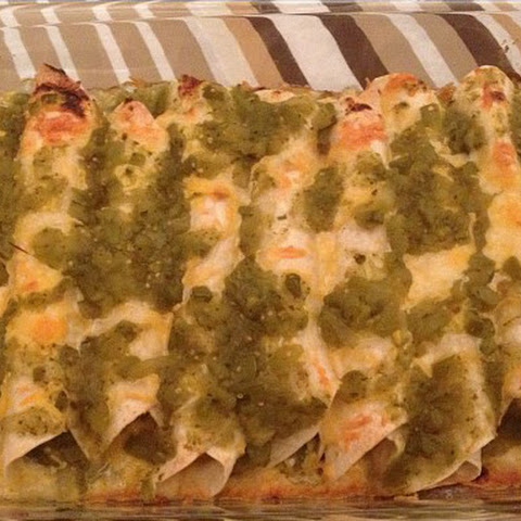 Chicken & Cheese Enchiladas with Green Sauce