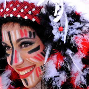 The Carnival Girl by Francis Xavier Camilleri - People Portraits of Women ( make up, girl, costume, smile, portrait,  )