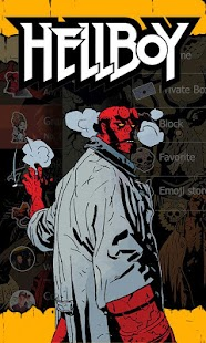 GO SMS PRO HELLBOY THEME APK for Bluestacks