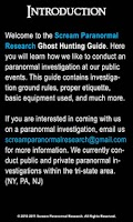 Screenshot of SPR Ghost Hunting Event Guide