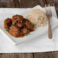 Warm Spiced Beef Curry with Rice