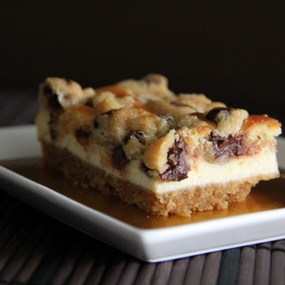 Chocolate Chip Cookie Dough Cheesecake Bar