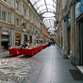 by Felice Bellini - City,  Street & Park  Markets & Shops ( liberty, genova, italy, galleria mazzini )