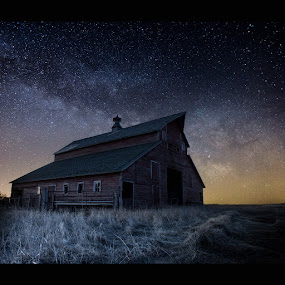 Barn V  by Aaron Groen - Landscapes Nightscapes ( milkyway, dark rift, the great rift, aaron groen, homegroen photography, south dakota, milky way stars, milky way, barn series, astro, barn, stars, astrophotography, galactic center, barn 5 )