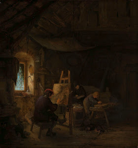 RIJKS: Adriaen van Ostade: The Painter's Studio 1675
