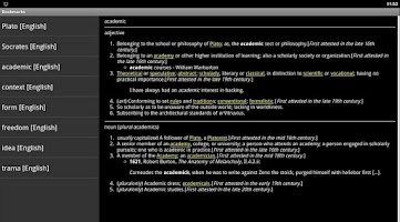 Screenshot of Online Dictionary
