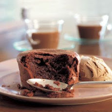 Soft-Centered Chocolate Cake with Espresso Ice Cream