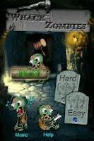Screenshot of Whack Zombies