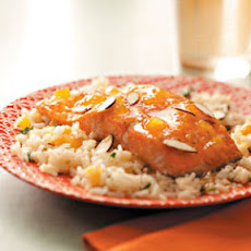 Apricot-Glazed Salmon with Herb Rice