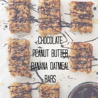 Chocolate Peanut Butter Banana Oatmeal Bars