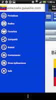 Screenshot of Venezuela Guide Radio n News