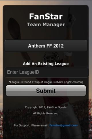 FanStar Team League Manager