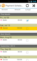 Screenshot of Payment Scheduler