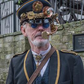 Steampunk Man by Simon Sweetman - People Street & Candids ( haworth, glasses, officer, steampunk, man )