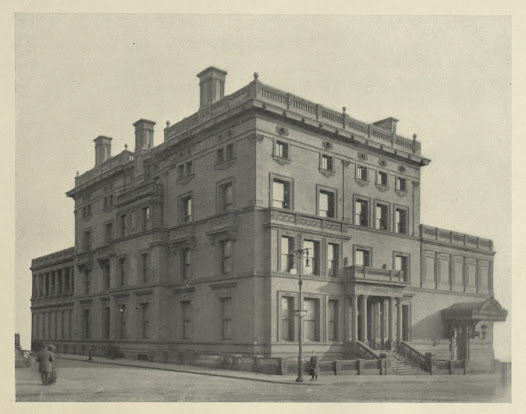 The Yerkes mansion at Fifth Avenue; two blocks south of Henry Clay Frick's future home at East 70th Street and Fifth Avenue.